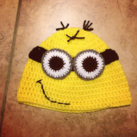 Dispicable Me Minion Crochet beanie