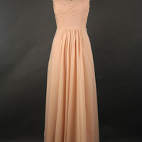 Sweetheart Cheap Long Chiffon Prom Dress 2013
