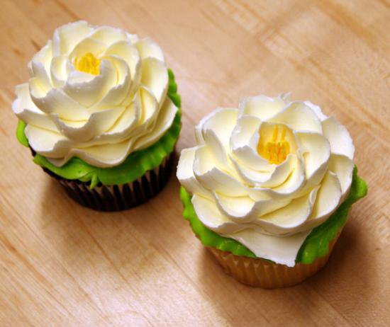 White Flower Signature-cupcakes