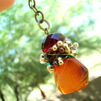 Gemstone purse charm or rear view mirror charm by ElephantBeads