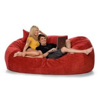 Amazon.com: 7.5ft Jaxx Lounger Microsuede Bean Bag Chair: Home & Kitchen