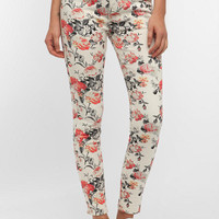 Urban Outfitters - BDG Twig High-Rise Jean - White Floral Print