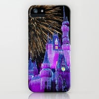 Disney Magic Kingdom Fireworks at Christmas - Cinderella Castle iPhone Case by Hub Photos | Society6
