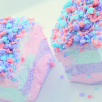 Cool Cotton Candy Marshmallows Jumbo Gourmet Marshmallows -1/2 Dozen