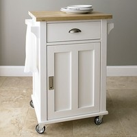 Belmont White Kitchen Cart in Dining, Kitchen Storage | Crate&Barrel