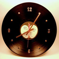 The Beatles Vinyl Record Wall Clock Magical by recordsandstuff