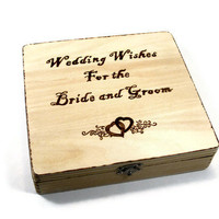 Rustic Wedding Guest Book.  Wedding Wishes and advice. Includes 50 wooden hearts.
