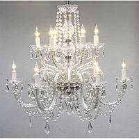 Venetian-style All-crystal 12-light Chandelier | Overstock.com