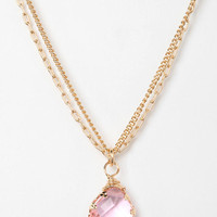 Urban Outfitters - Layered Chain Teardrop Necklace