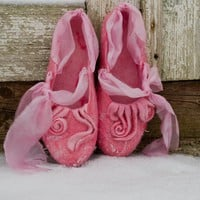 Felted slippers SUSAN'S PINK DREAM by ing00te on Etsy