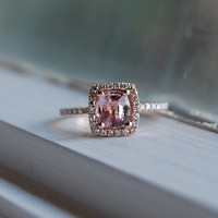 1.18ct Cushion peach lavender champagne sapphire by EidelPrecious