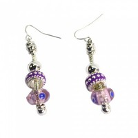 Beautiful Drop Earrings Light Purple