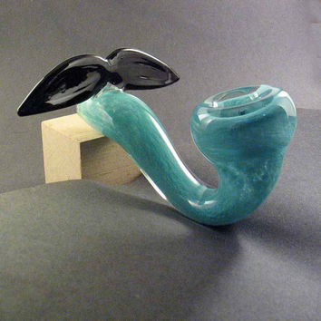 Glass Mustache Pipe Sherlock Hedcraft Glassworks by Hedcraft