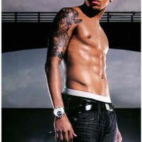 Chris Brown - Shirtless - 11x17 Poster
