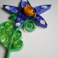 Purple Quilled Flower by SVaethDesigns on Etsy