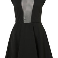 Mesh Insert Skater By Dress Up Topshop** - Dresses - Apparel - Topshop USA