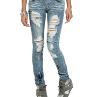 Paint Splatter Destroyed Jean | Shop Tops at Wet Seal