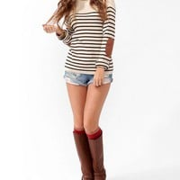 Striped Elbow Patch Sweater | FOREVER 21 - 2025100808