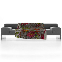 Valentina Ramos Random Flowers Fleece Throw Blanket