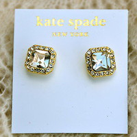 NWT Kate Spade big crystal earrings