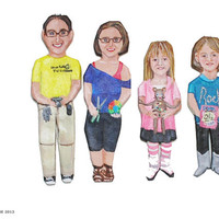 Mini Me Family Portrait Figures, set of four
