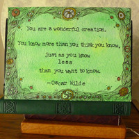 You are a Wonderful Creation  Oscar Wilde  by ThreeSummerDaysShop