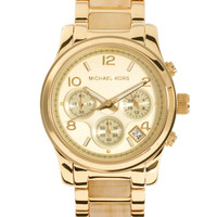 Michael Kors Cream & Gold Chronograph Watch