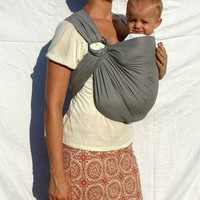 The Original Rustic Ring Sling Edgy Grey Our by RaspberryBaby