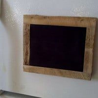 Rustic Magnet Top Chalk Board Made with Reclaimed Barnwood