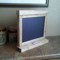 Rustic Table Top Chalk Board Made with Reclaimed Barnwood