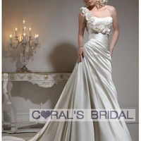 WD11278 flower strap wedding dress maggie Ursula coral's bridal wedding dress