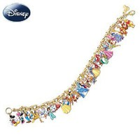 Amazon.com: Ultimate Disney Classic Charm Bracelet Featuring 37 Disney Characters by The Bradford Exchange: Jewelry