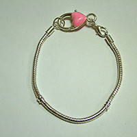Gorgeous Sterling Plated 3 mm European Bracelet Chain,  4 Sizes Available, DIY