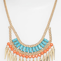 Stephan & Co. Exotic Spike Statement Necklace | Nordstrom