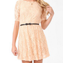 Lace Surplice Back Dress w/ Belt | FOREVER 21 - 2000049198