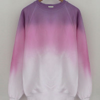 ANDCLOTHING — Candy Purple Pink Mix Dip Dye Sweater <em>SOLD OUT</em>