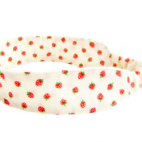 Strawberry Shortcake - Fabric Headband Red Cream Green