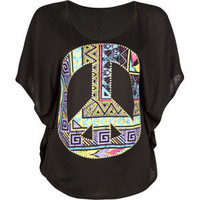 FULL TILT Ethnic Peace Womens Circle Top 193089100 | tops | Tillys.com