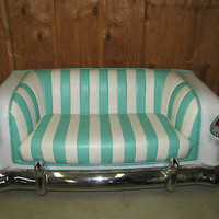 1955 RETRO CHEVY CHAIR COUCH LOUNGE FOR DINER OR PERSONAL COLLECTION