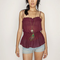 FULL TILT Solid Ruffle Womens Top 183280320 | blouses &amp; shirts | Tillys.com