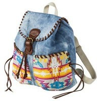 Mad Love Denim Mini Backpack - Blue