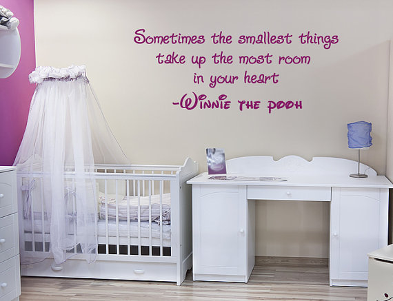 Winnie the Poo wall quote sticker nursery baby by 60SecondMakeover