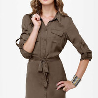 Big Tipper Sable Shirt Dress