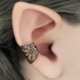 Soft Whispers  Brass Filigree Ear Cuff by RavynEdge on Etsy
