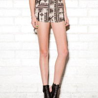 High-Waisted Southwestern Shorts | FOREVER 21 - 2058695621
