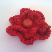 SALE - Red Flower Pin