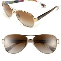 COACH Polarized Metal Sunglasses | Nordstrom