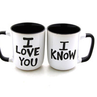 Star Wars R Han Solo and Leia I love you I know  Mug by LennyMud