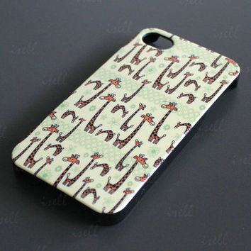 New Amusing Giraffe Design Hard Back Cover Case Shell For Apple iPhone 4 4G 4S