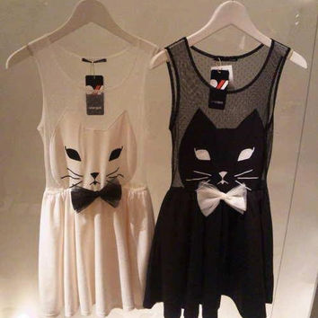 Cat Silhouette Dress